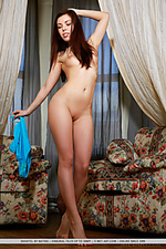 Sweet and innocent newcomer with amateur appeal and nubile goods.