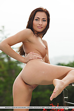 Incredibly sexy model with tiny, tight build and pornstar allure.