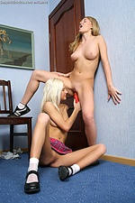 Luscious teens undress and tongue assholes