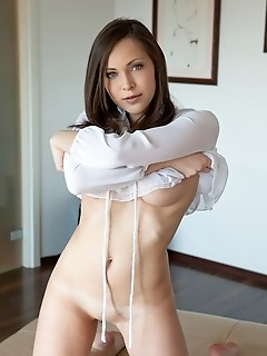 Chic and elegant vixen with great body, puffy breasts and alluring face.