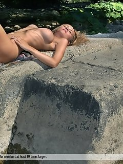 Four amazing honeys get naked and dildo pussies in wild orgy
