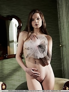 Sultry and sweet little model with tiny physique and delectable labia.