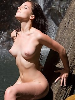 Smooth fair skin, puffy brown nipples, slim and slender body, and an alluring charming face makes patsy the perfect centerpiece inside this all white