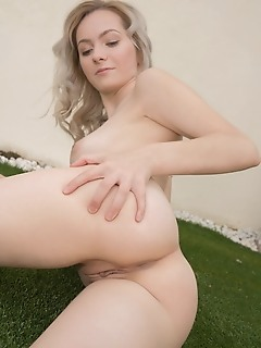 Kate fresh kate fresh shows off her creamy, slender body as she rides her in-line skates.