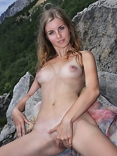 premiere welcome newcomer and instant favorite at femjoy, verena s. She starts in a little silk dress, jumping up and down on the road - legs high and