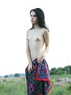 Charming tiny teens nude babe