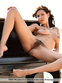 Stormy and her friends naked outdoors