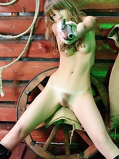 Russian free sex stripping cowgirl