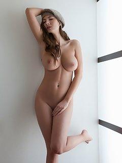 Outdoors happy naked girl cutie pix flirty