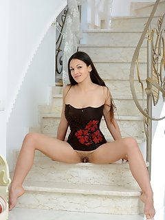 European posing stars glamour sweetheart happy