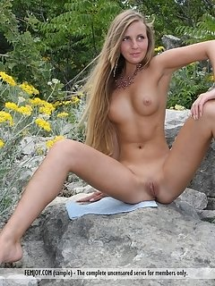 Helen performs a one-of-a-kind striptease by the campfire in the middle of the wilderness, showcasing her raw and pwerful sex appeal.