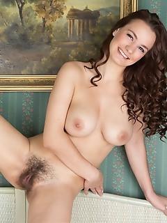 Extreme bushy brunette