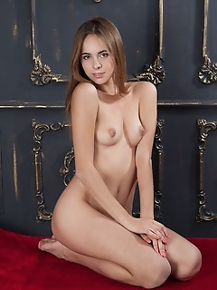 Gracie gracie strips her sexy, night dress as she displays her trimmed pussy.