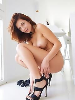 Belka stripping off her shimmery dress, belka shows off her spectacular body