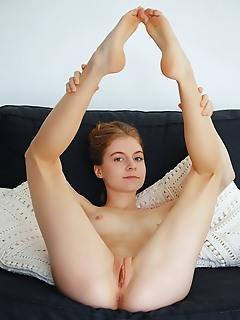 Shayla shayla takes off her dress and spreads her legs to show off her smooth snatch