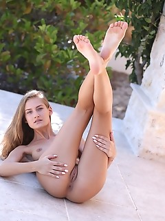 Tiffany tatum youthful tiffany tatum delightfully poses outdoors baring her petite body.