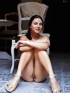 Jasmine jazz jasmine jazz displays her perky tits and red cherry on the chair.