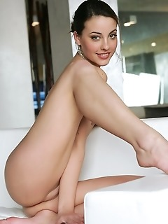 A view of lorena's round, luscious ass.