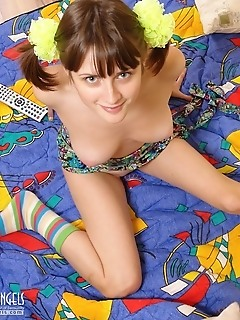 Fun in nude adult's bedroom