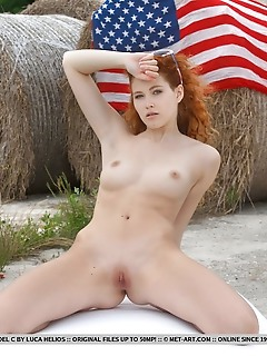 Adel c adel c bares her gorgeous physique and sweet pussy as she celebrates the 4th of july.