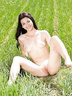 Big tits in the nature