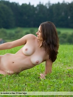 Martha confidently prance around, wet and naked, enjoying all the attention to herself