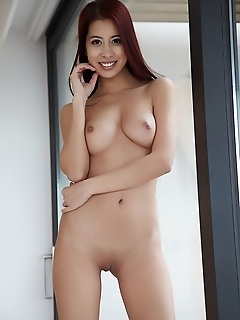 Paula shy paula shy bares her delectable pussy as she strips her lingerie.