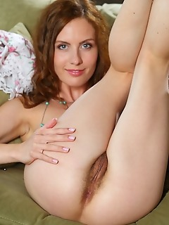 Sienne sienne strips her tiny dress as she bares her petite body with unshaven pussy.